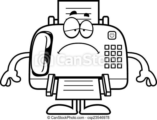 sad cartoon fax machine a cartoon illustration of a fax machine rh canstockphoto com fox clipart images fox clipart black and white