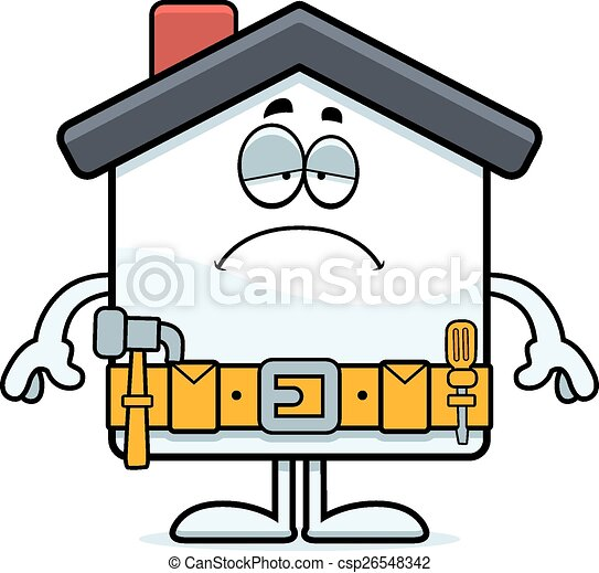 sad cartoon home improvement a cartoon illustration of a eps rh canstockphoto com  home improvement clipart free