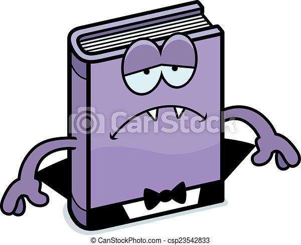 Sad Cartoon Horror Novel - csp23542833