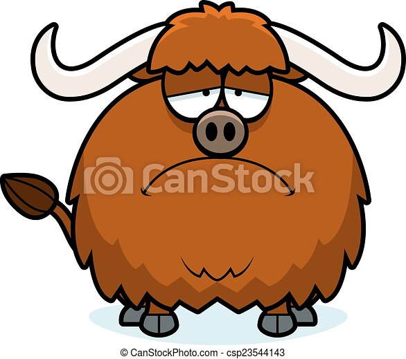 sad cartoon yak a cartoon illustration of a yak looking eps rh canstockphoto com  yak clipart images