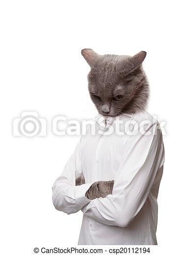 Sad cat man - csp20112194