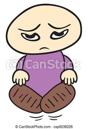 Sad child - csp9238228