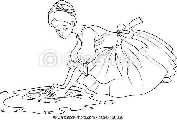 Sad cinderella wash the floor sad cinderella washes the sad cinderella wash the floor vector voltagebd Gallery