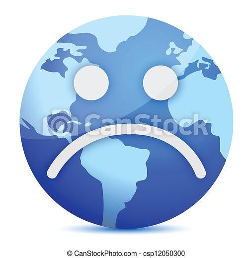 sad Earth globe - csp12050300