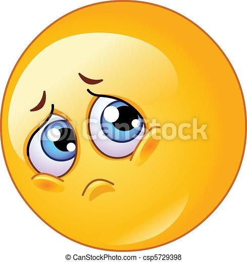 Sad emoticon - csp5729398