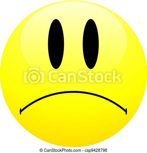 Sad Emoticon Sad Smiley Ball On Isolated White Background