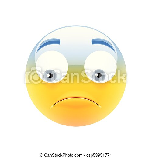 Sad Emoticon Unhappy Smile Upset Emoji Modern Emoji Series