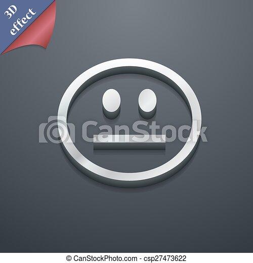 Sad Face Sadness Depression Icon Symbol 3d Style Trendy Modern