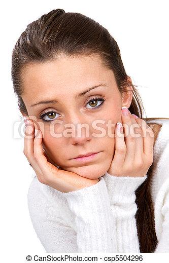 Sad Faced Woman - csp5504296
