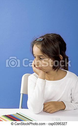 sad little girl - csp0395327