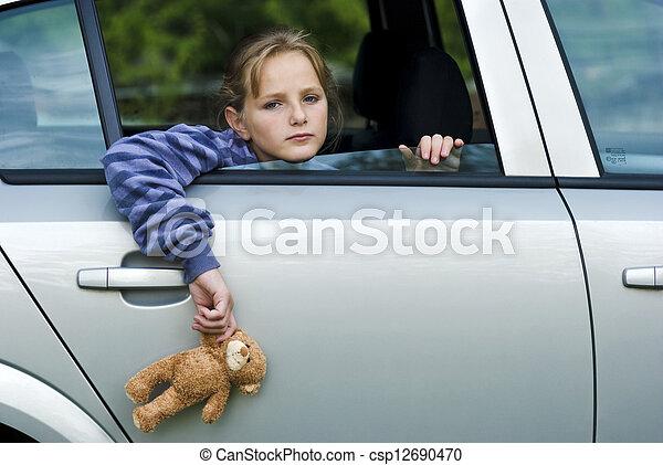 Sad little girl - csp12690470
