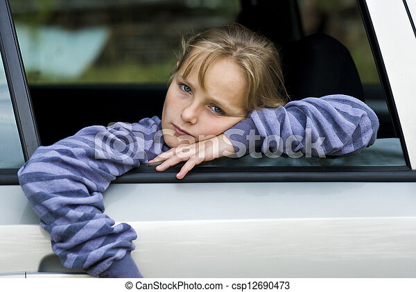 Sad little girl - csp12690473