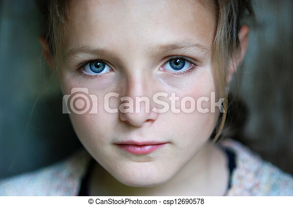 Sad little girl - csp12690578