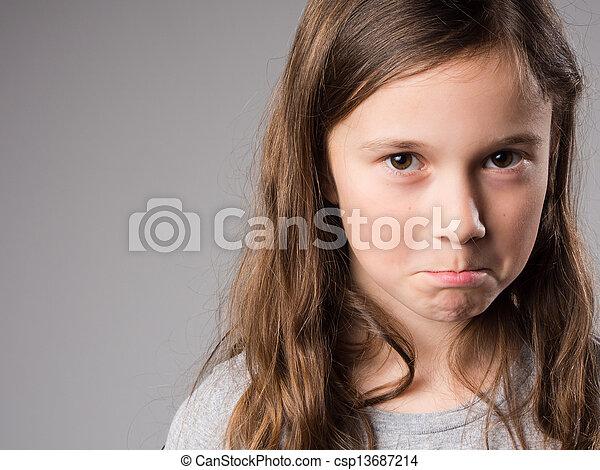 Sad little girl - csp13687214