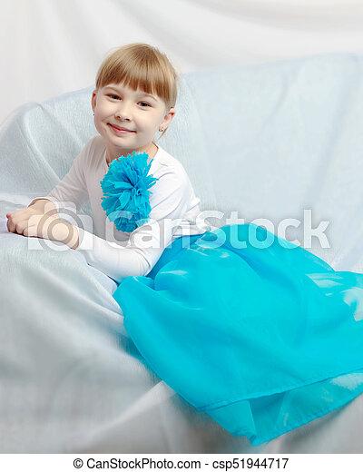 Sad little girl - csp51944717