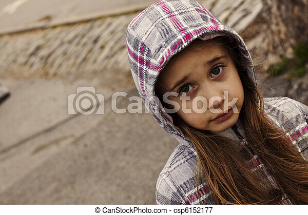 Sad Little Girl - csp6152177