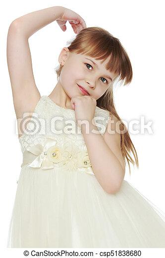 Sad little girl - csp51838680
