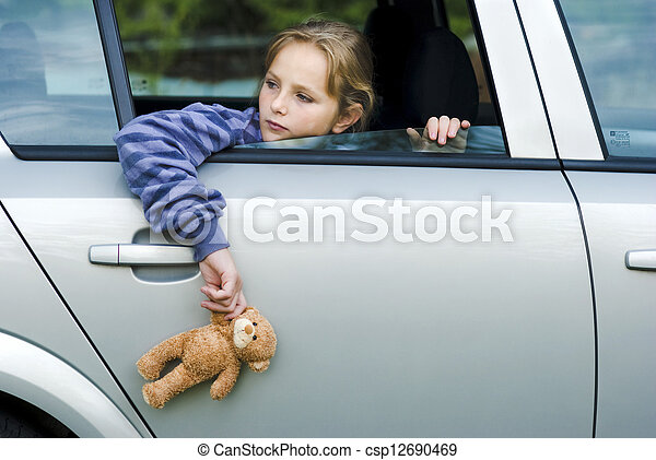 Sad little girl - csp12690469