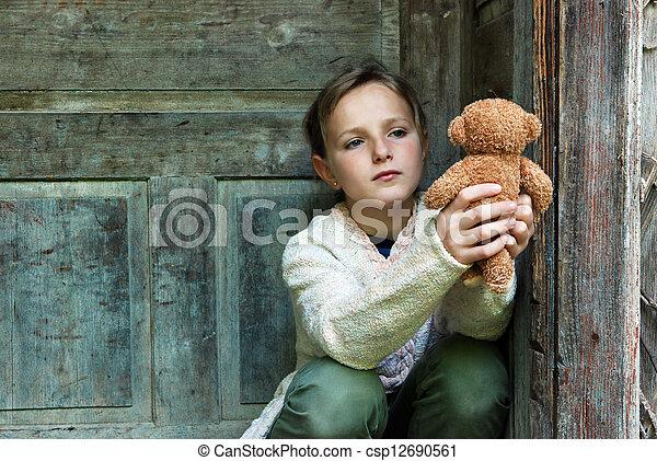 Sad little girl - csp12690561