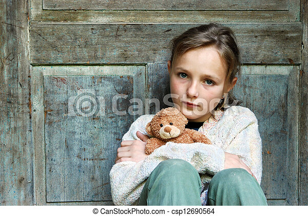 Sad little girl - csp12690564