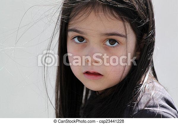 Sad little girl - csp23441228