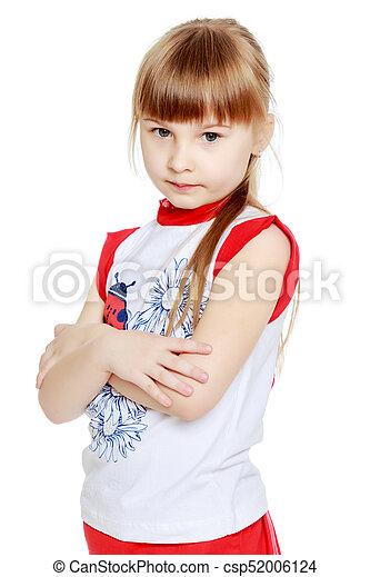 Sad little girl - csp52006124