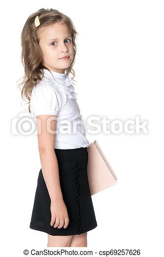 Sad little girl - csp69257626