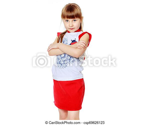 Sad little girl - csp69626123