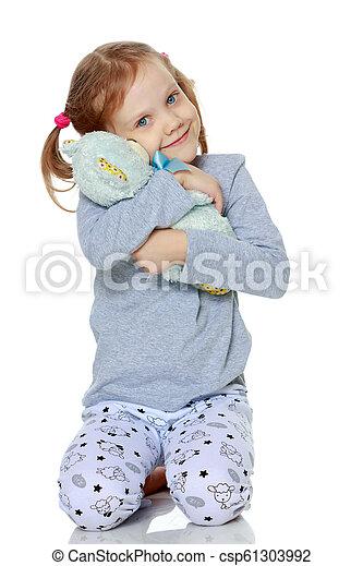 Sad little girl - csp61303992