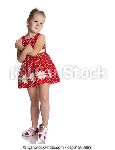 Sad little girl - csp61303999
