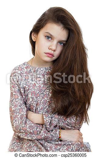 Sad little girl - csp25360005