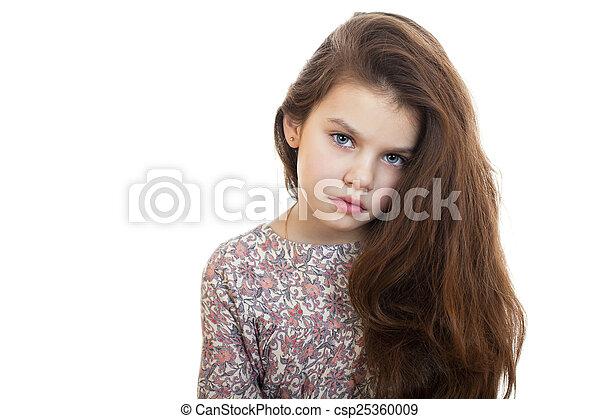 Sad little girl - csp25360009