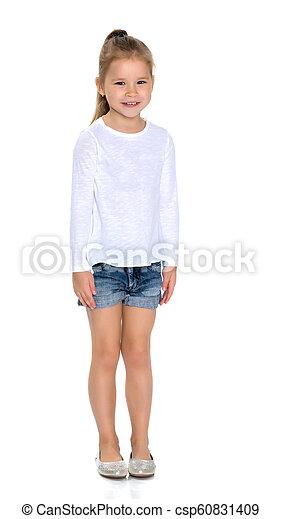 Sad little girl - csp60831409