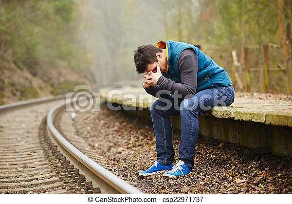Sad man - csp22971737