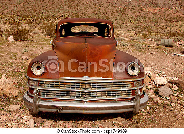 Sad Rusted Out Used Up Vintage Vehicle - csp1749389