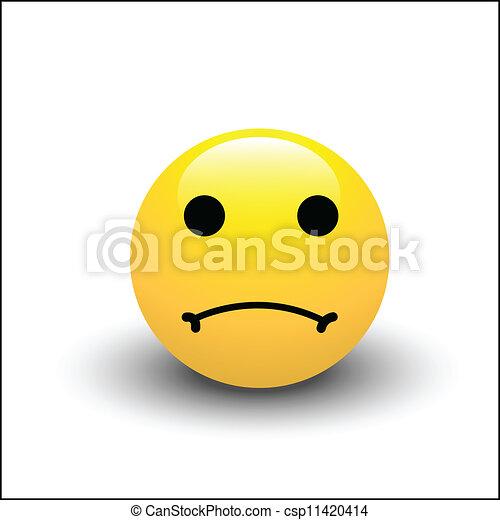 Sad Smiley Face - csp11420414
