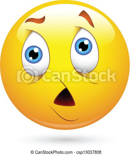 Sad Smiley Face - csp13037808