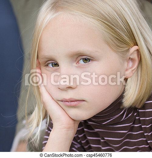 Sad teen girl - csp45460776
