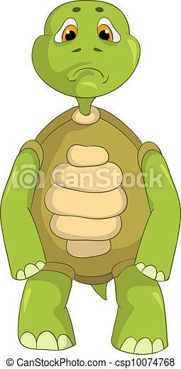 Sad Turtle. - csp10074768