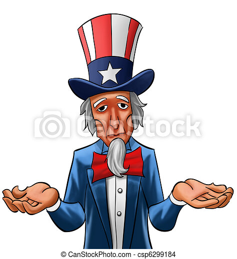 sad uncle sam uncle sam painted he looks not so happy drawing rh canstockphoto com uncle sam clip art free images free uncle sam clipart