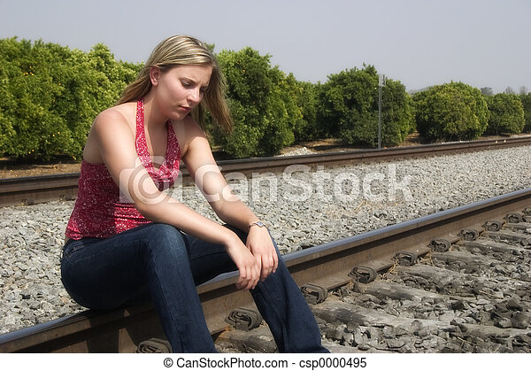 Sad Woman - csp0000495