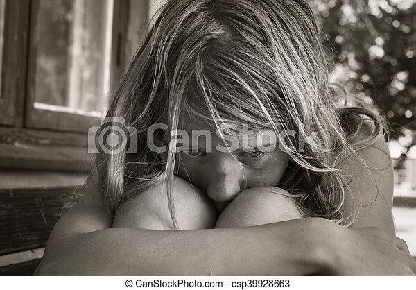 Sad young girl - csp39928663