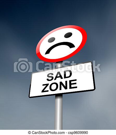 Sadness concept. - csp9609990
