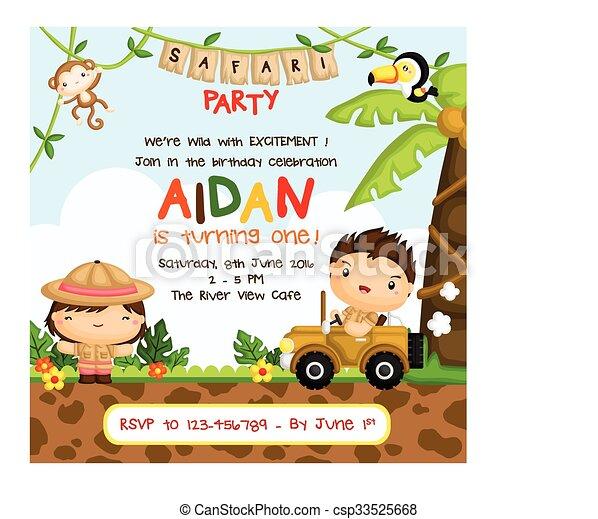 Safari birthday invitation clip art vector Search Drawings and