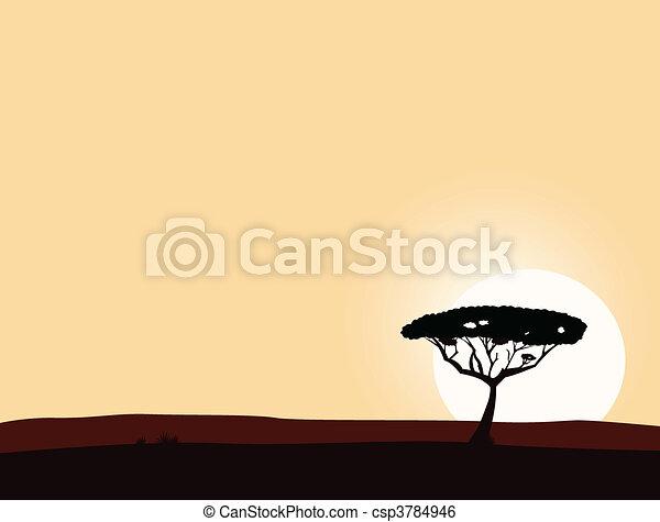 safari, fundo, africano - csp3784946