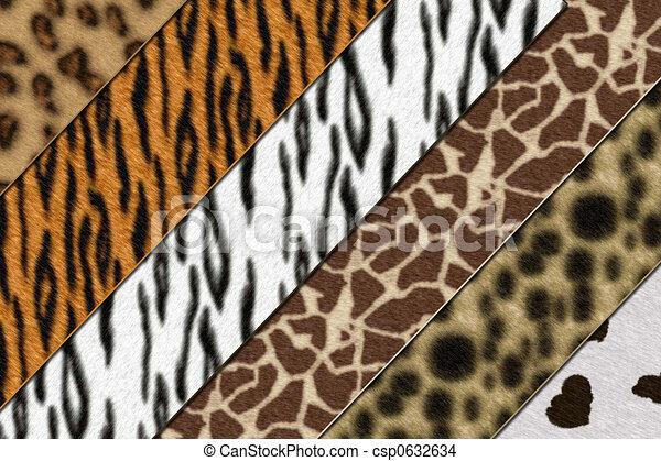 Line Drawings Of African Animals : Safari skins. six african wild animals skin background drawing