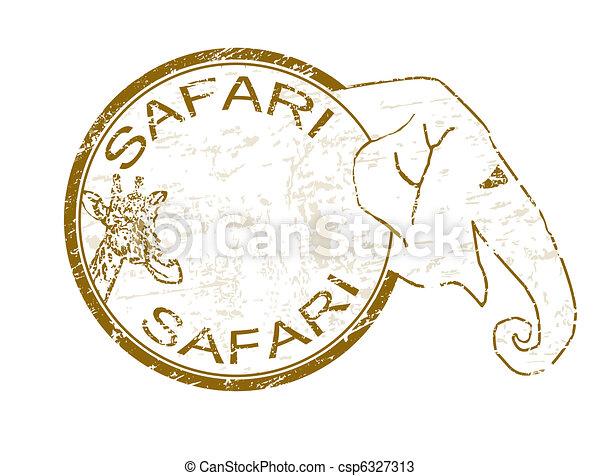 Safari stamp - csp6327313
