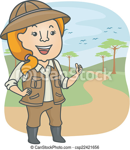 illustration featuring a female safari tour guide clipart vector rh canstockphoto com clipart guidelines clipart a guide dog
