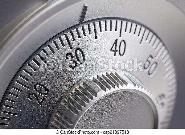 Safe combination dial - csp21897518
