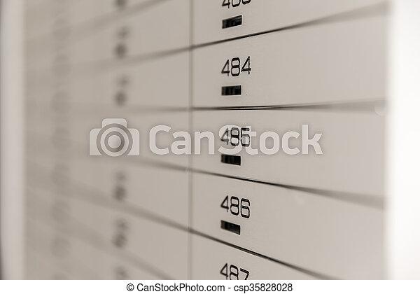 Safe-Deposit Box Security - csp35828028